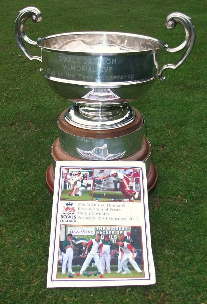 Bowls England top club runner up trophy