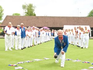2016 Bowls England President Michael Jennings prior to his Presidential Challenge