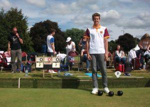 Chris Webb at Leamington in the National U18 Championship.